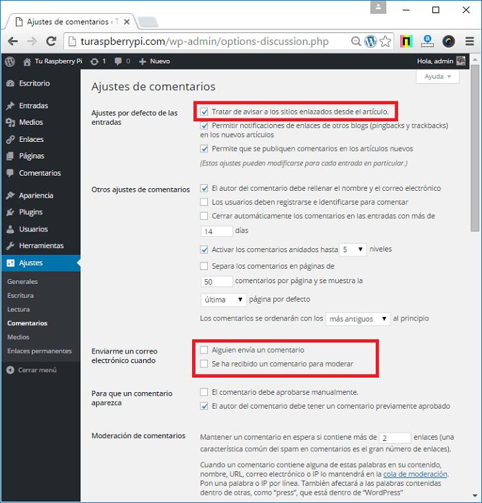 Cómo configurar ajustes de comentarios en WordPress