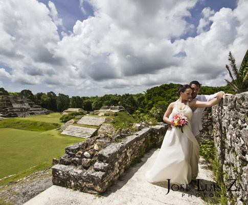 For One Local Bride, Valentines Day just turned South, way South…All the way to Belize, Central America!