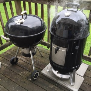 weber kettle and smokey mountain
