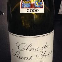 """Wooly Bully: 2009 Domaine des Baumard """"Clos Saint Yves"""" Savennières"""