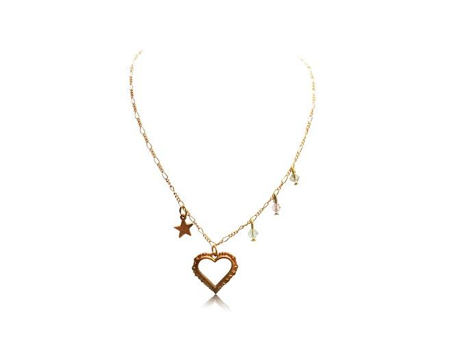 heart necklaces star charm jewelry handmade