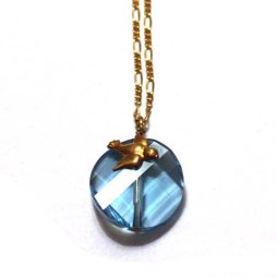Blue Bird Necklace Handmade Jewelry gold necklaces