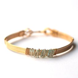 aquamarine-gemstone-wire-bangle-handmade-jewelry