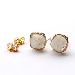 cube-moonstone-gemstone-wire-wrap-studs-handmade