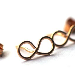 infinity-wire-stud-earrings-gold-sensitive-ears