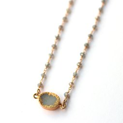 labradorite-beaded-chain-with-druzy-necklace-handmade