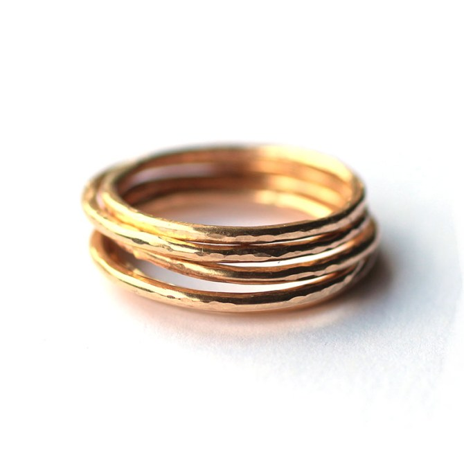 stacking-hammered-rings-14k-gold-filled-handmade-jewelry
