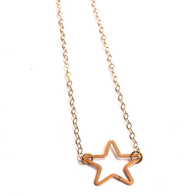 star-necklace-14k-gold-necklace-handmade-jewelry