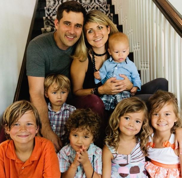 Judah's Baptism family photo