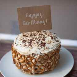 Chocolate Peanut Butter Pretzel Layer Cake a Joyfully Mad Kitchen