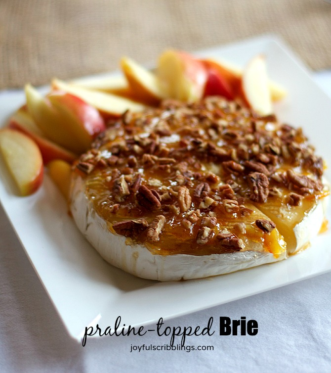 praline-topped brie