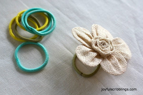 DIY flower napkin ring