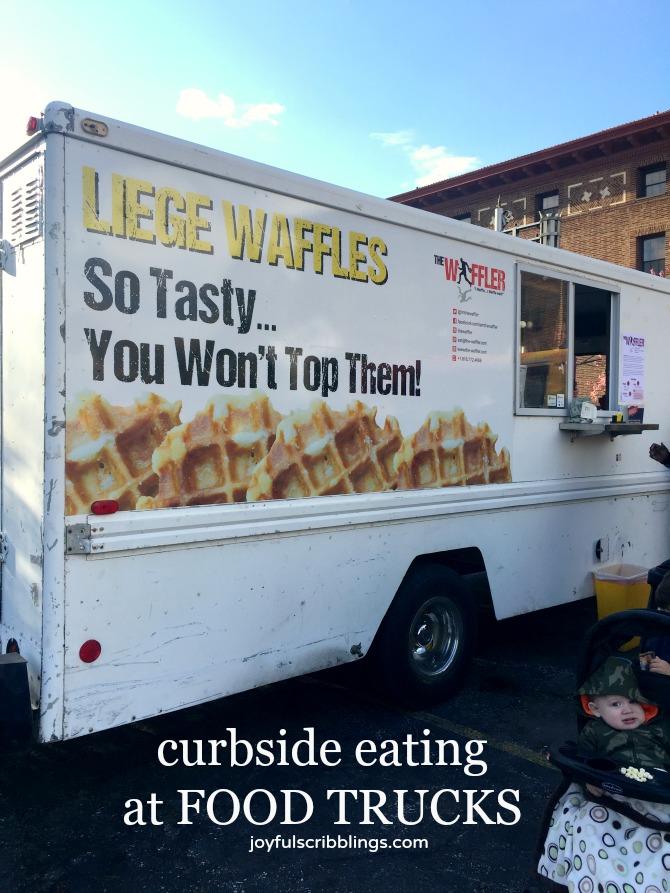 Curbside Eating at Food Trucks