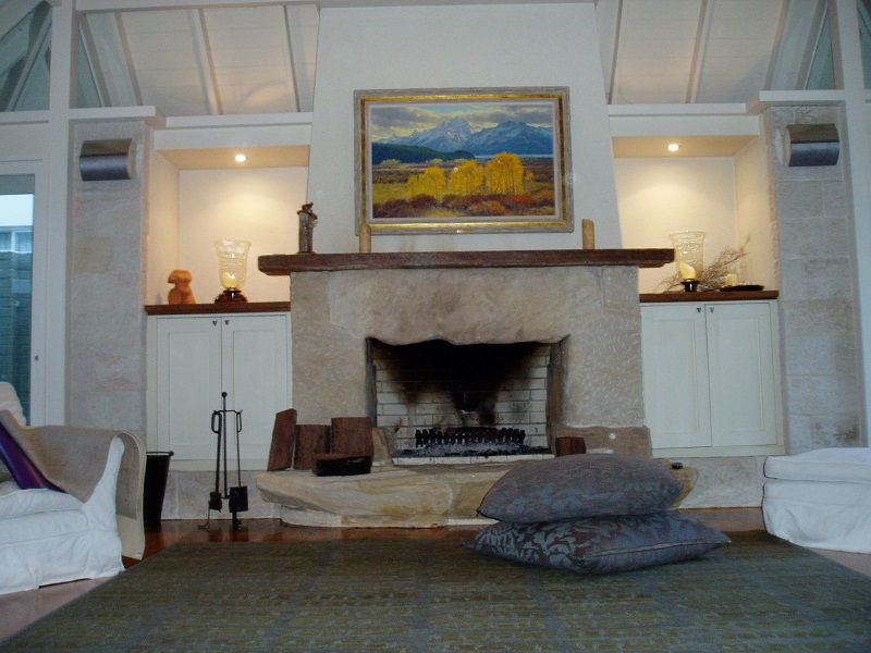 Sandstone Feature Fireplace