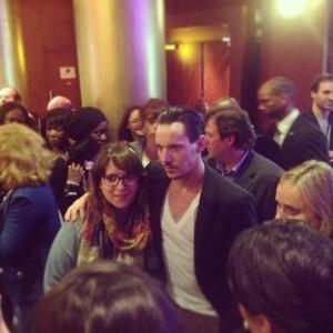 Jonathan Rhys Meyers in Paris with fans