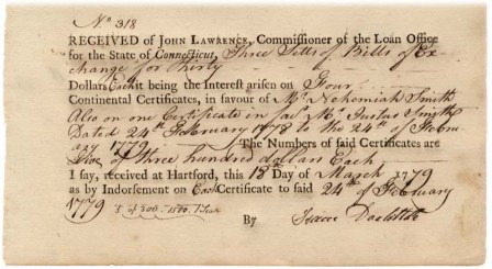 Bill of Exchange, 1779