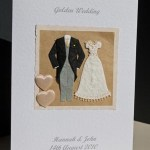 Golden Couple - Golden Wedding Anniversary Card Angle (50 years) - Ref P102