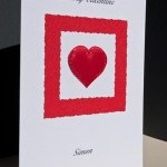 Valentines red heart - Valentines Day Card Angle - Ref P152