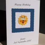 Lion - Boys Birthday Card Angle - Ref P163
