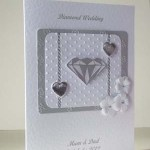 Diamond Sparkles - Diamond Wedding Anniversary Card Angle - Ref P180