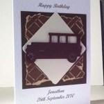 Old Car - Men's Birthday Card Angle – Ref P205