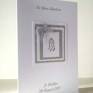 Baptism Christening Card Angle - Ref P211