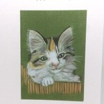Kitten Artwork Card - Ref 208