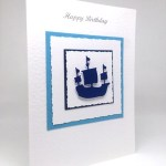 Sailing Ship - Men's Birthday Card Angle - Ref P213