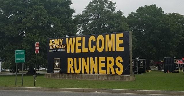 2016 Army Ten Miler. Expo Sign