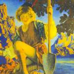 Jack and the Beanstalk by Maxfield Parrish