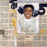 """My Friend VanettaPaper Collage on Canvas36""""x 36"""""""
