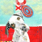 XO Dog          SOLD            Cut Paper on Wood Panel       12″ x 12″