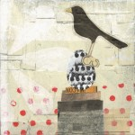 Dot Topper III      SOLD            Mixed Media on Wood Panel       6″ x 6″