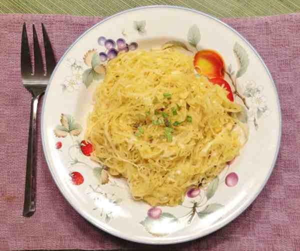 Spaghetti Squash with Basil and Parmesan -- Juggling With Julia