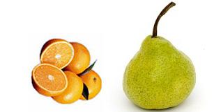 jugo de pera, naranja y linaza