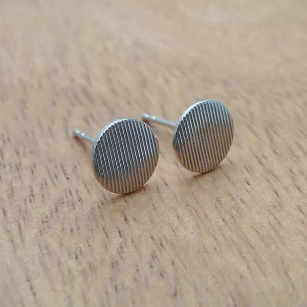 壓紋耳環/線紋款