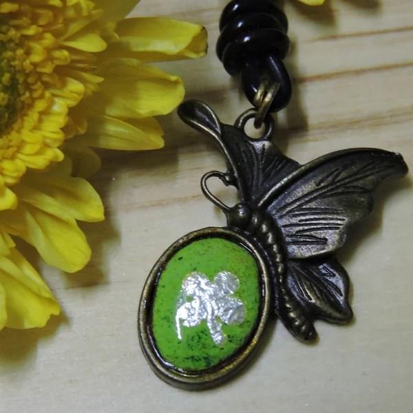 蝴蝶幸運草項鍊