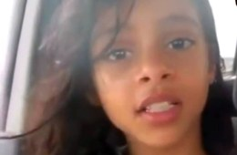Yemeni girl viral video screen shot