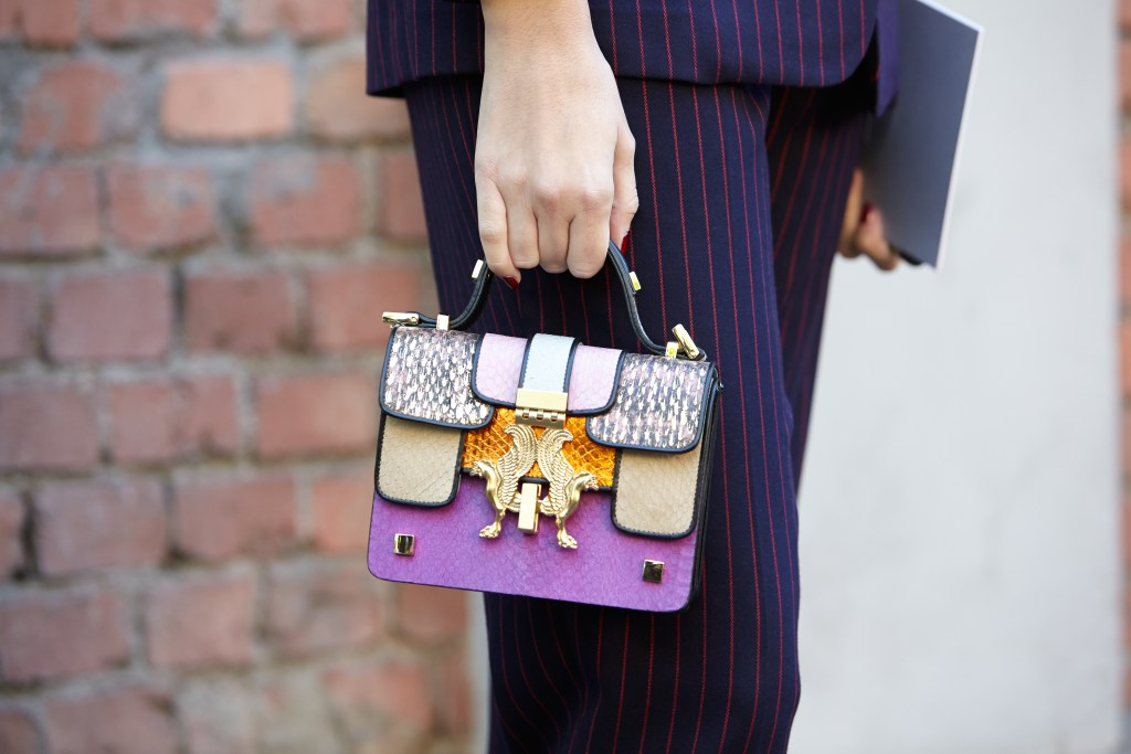 Delicately decorated mini handbag from MFW