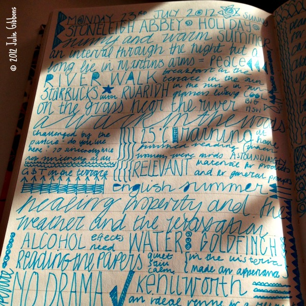 bedtime journaling page