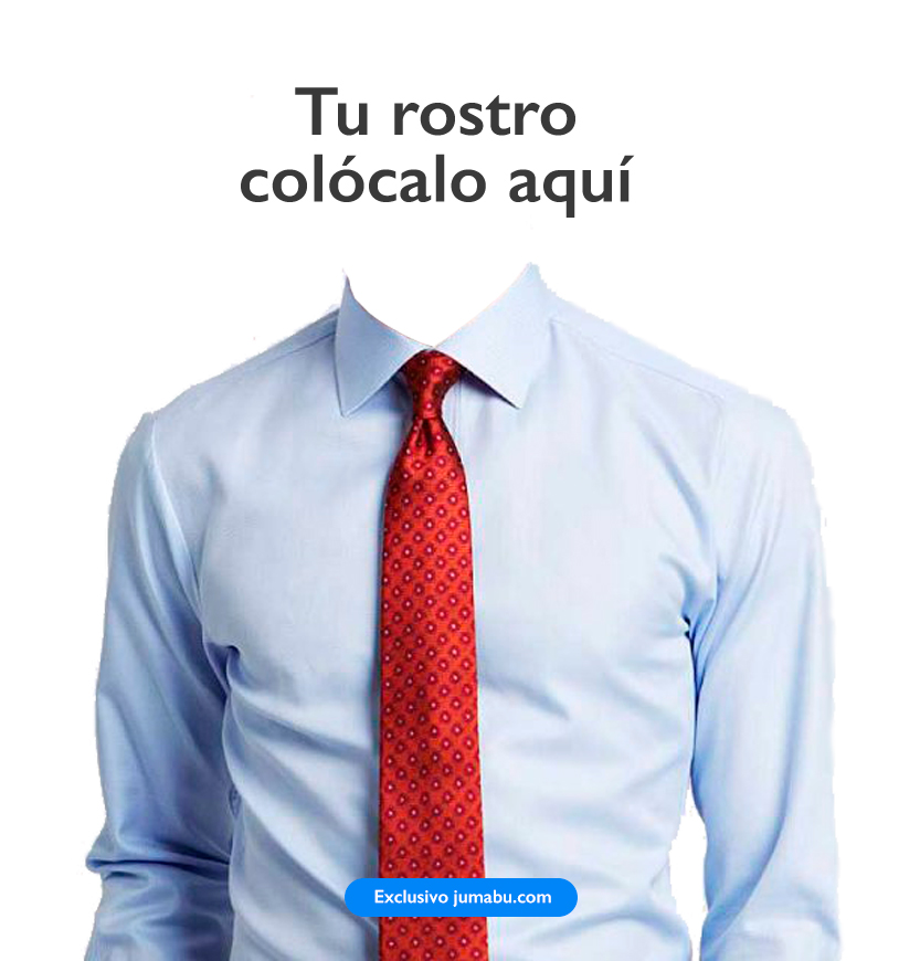 Plantilla para poner una camisa y corbata a tu curriculum vitae