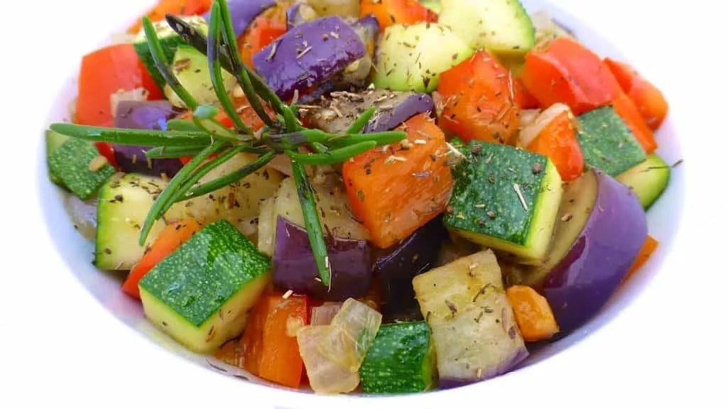 Easy Ratatouille Recipe: French sauteed eggplant, zucchini, tomato and ...