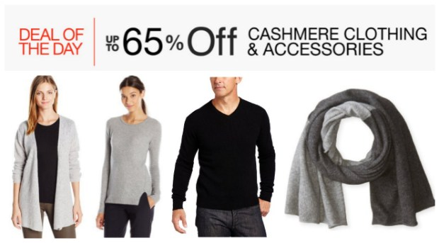 Deal of the Day: Up to 65% Off Cashmere Clothing & Accessories!