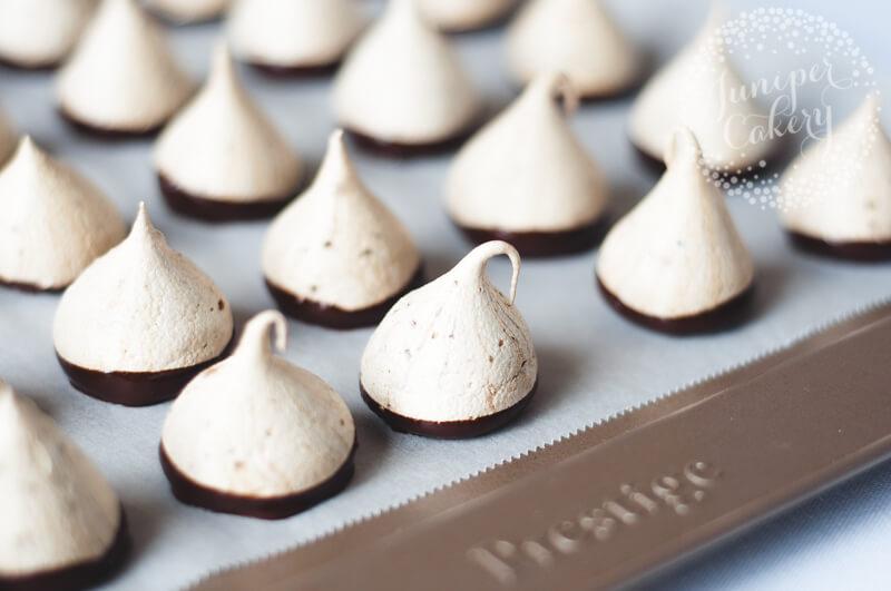 chocolate dipped mocha meringue kisses recipe. Black Bedroom Furniture Sets. Home Design Ideas