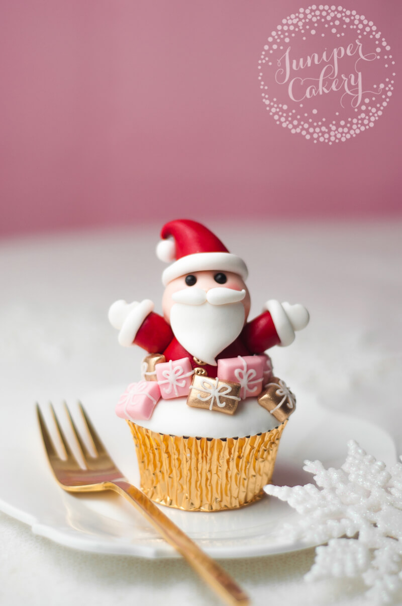 Sweet Santa cupcake tutorial by juniper Cakery