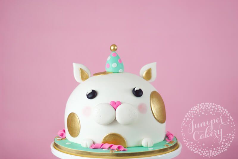 Kitty birthday cake by Juniper Cakery
