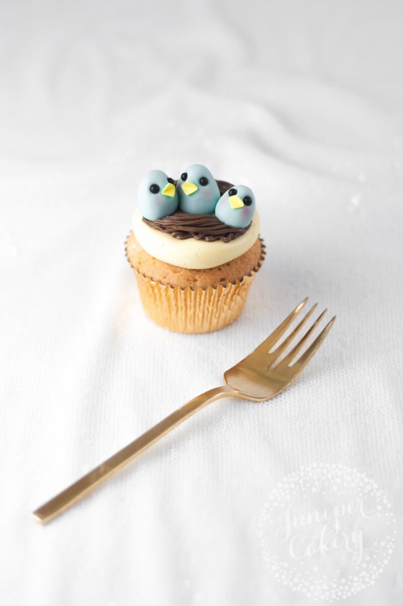 Cute Easter chick cupcake by Juniper Cakery