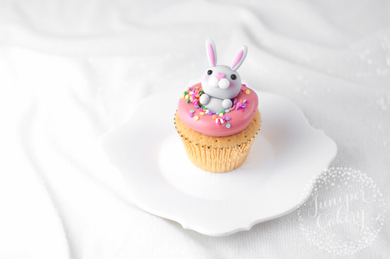 Easter bunny cupcake by Juniper Cakery