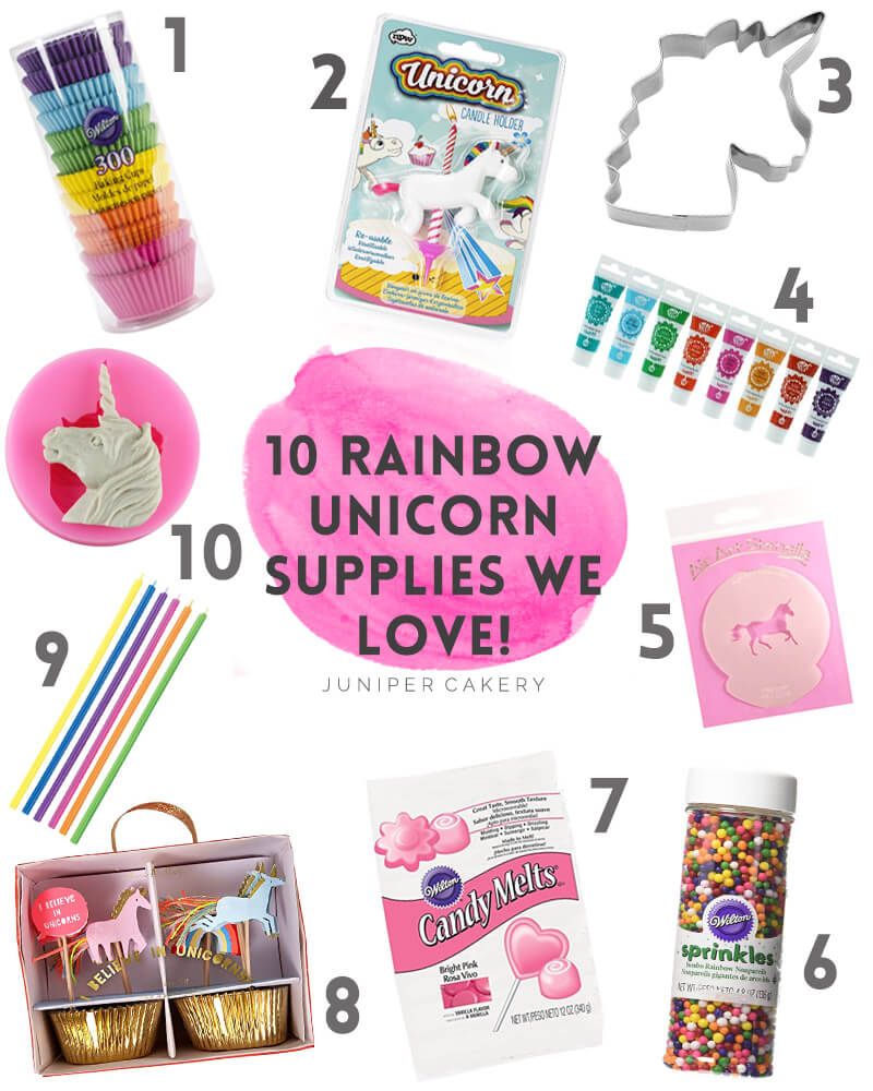 10 Rainbow Unicorn Baking Tools we LOVE