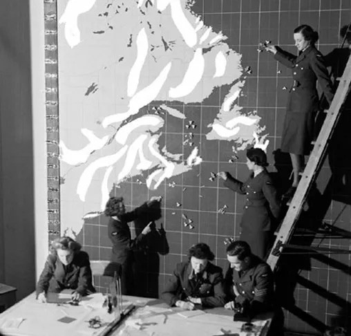 Operations monitoring at the Eastern Air Command HQ, Halifax, January 9th, 1943.